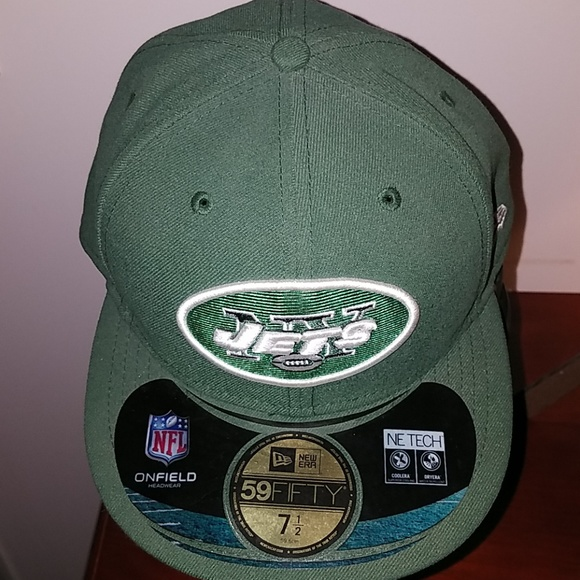afbb86d8 New York Jets Football Mens hat fitted size 7 1/2 NWT